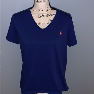 Ralph Lauren Sport XL royal blue v-neck T-shirt